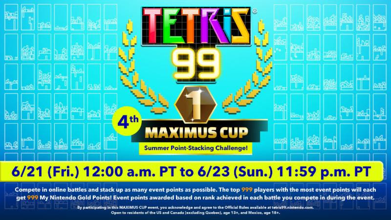 Get ready for the Tetris 99 4th MAXIMUS CUP - Pure Nintendo