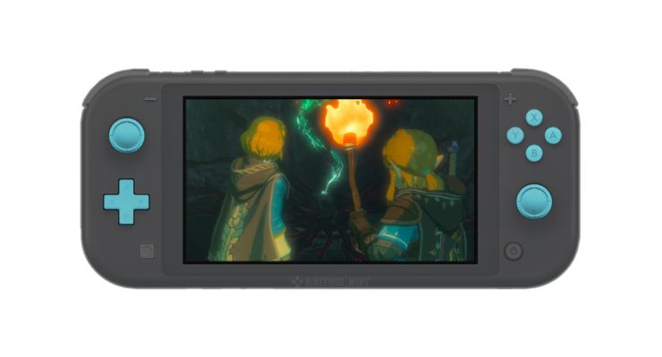 Breath Of The Wild Switch Lite - Front