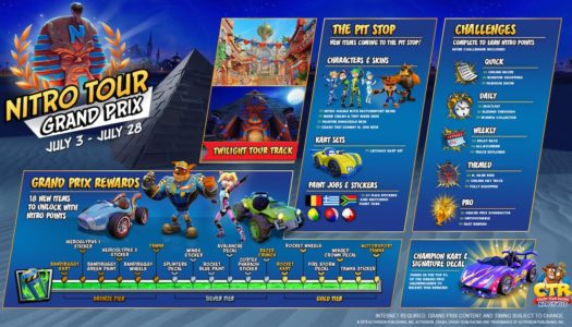 Crash Team Racing's first grand prix, Nitro Tour, is now live — and Spyro teased for CTR!