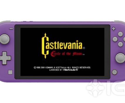 Castlevania Purple Switch Lite