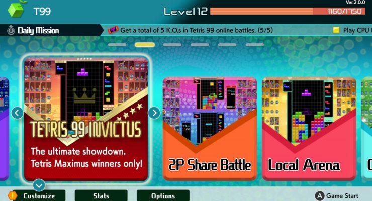 Invictus Mode - Tetris 99