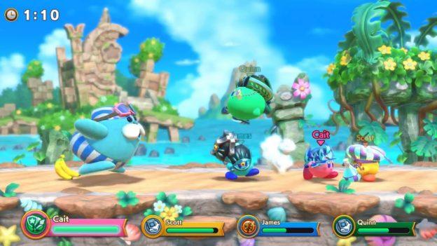 Super Kirby Clash battles