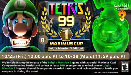 Tetris 99 greets a spooky welcome to Luigi and his friends