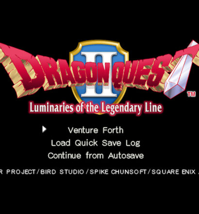Dragon Quest II - title screen