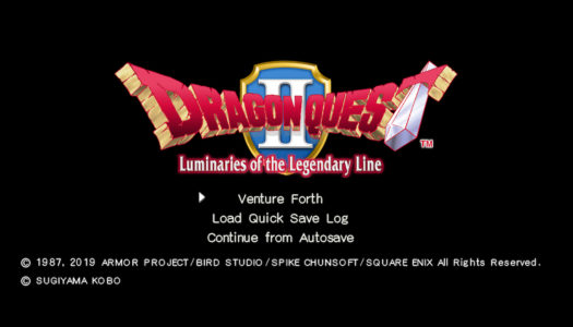 Review: Dragon Quest II: Luminaries of the Legendary Line (Nintendo Switch)