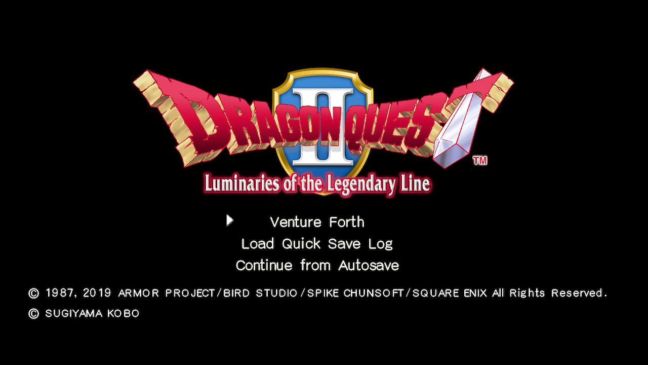 Dragon Quest II - title screen
