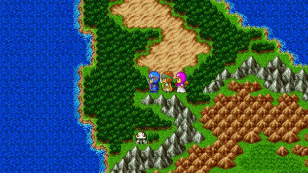 Dragon Quest II - World map