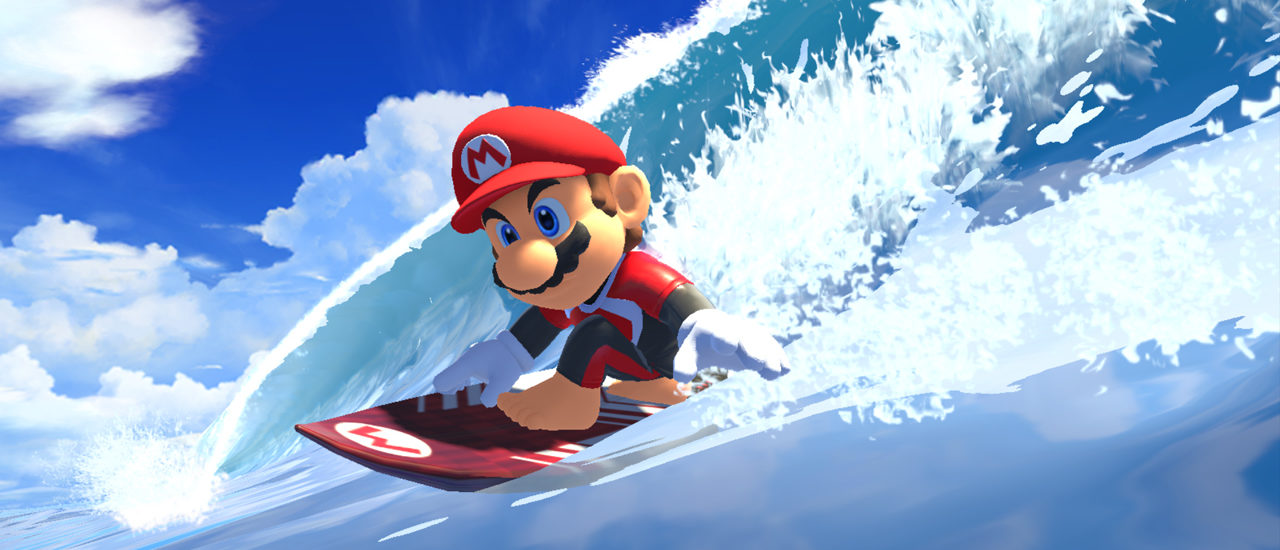 Mario Sonic Tokyo 2020 Olympic Games Surfing