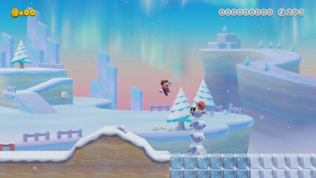 Super Mario Maker 2 version 2 update - snow Pokey