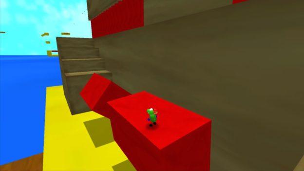 Regina & Mac - Nintendo Wii U eShop - screenshot - red blocks rotating